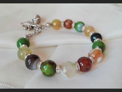 Agate Autumn Bracelet