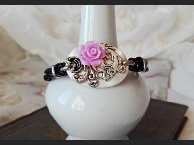 Vintage Style Purple Flower Bracelet