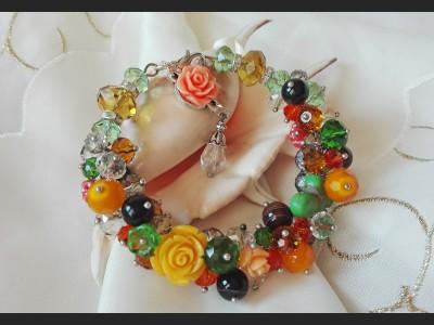Gemstone Cluster Bracelet