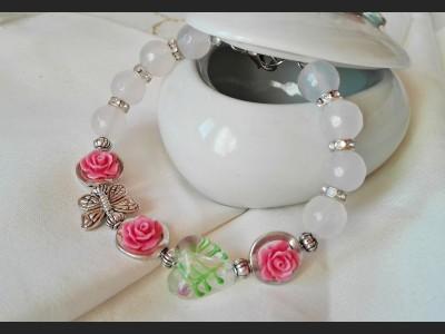 White Agate Bracelet