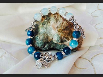 Faceted Agate Gemstone Bracelet