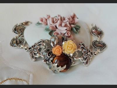 Victorian Style Tigers Eye Bracelet