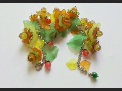 Autumn Flower Bracelet