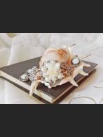 Victorian Pearl Rose Bracelet