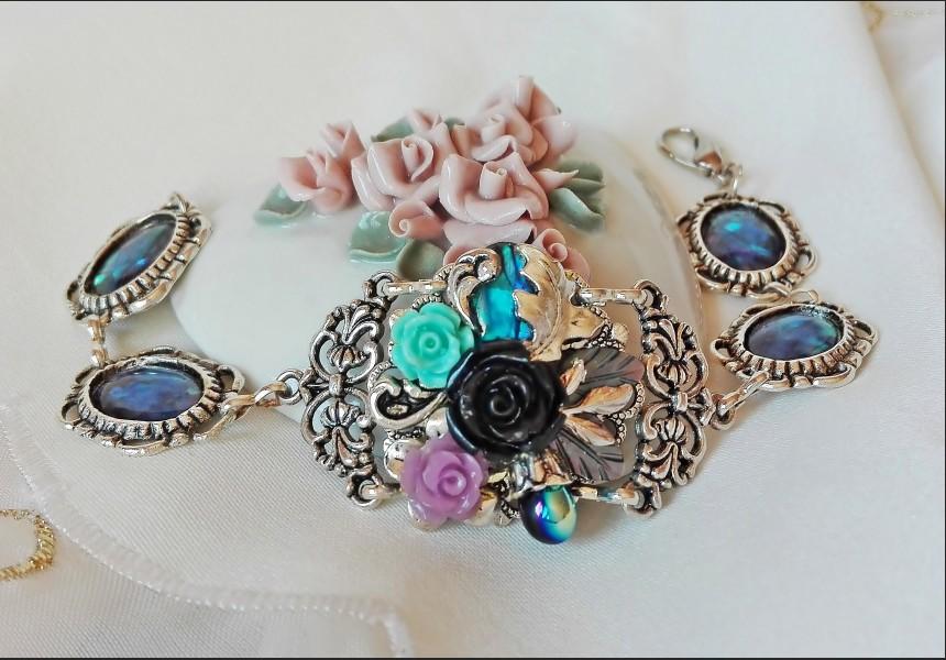 Abalone Shell Victorian Style Bracelet