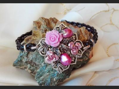Vintage Style Purple Pearl Bracelet