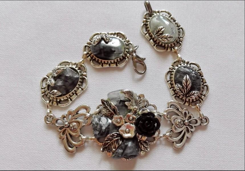 Art Vintage Rutile Quartz Bracelet