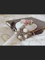 Art Deco White Pearl Bracelet