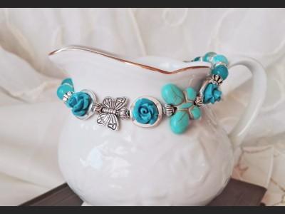 Blue Agate Gemstone Bracelet