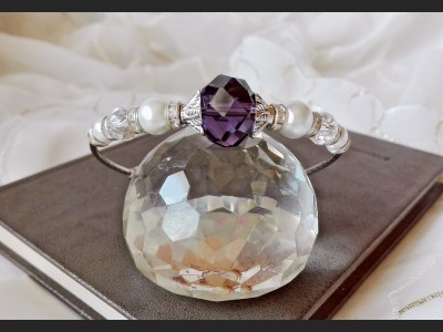Dark Purple Crystal Bracelet