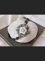 Art Deco White Mother of Pearl Bracelet
