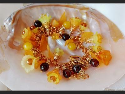 Flower Bracelet in Yellow