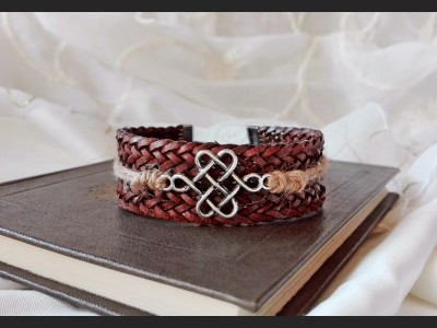 Brown Boho Leather Bracelet