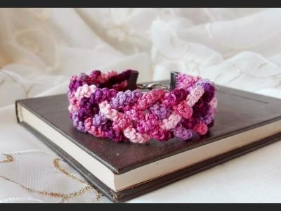 Purple Boho Crochet Bracelet