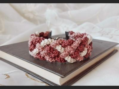 Beige Boho Crochet Bracelet