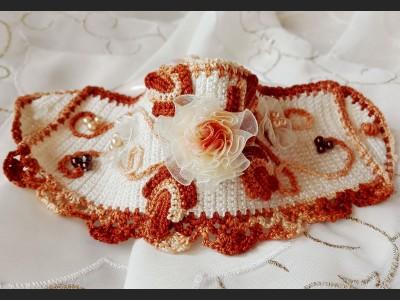 Boho Crochet Bracelet with Flowers
