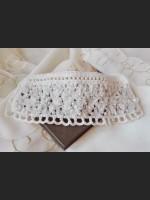White Boho Crochet Bracelet