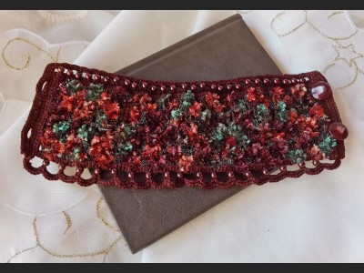 Brown Boho Crochet Bracelet
