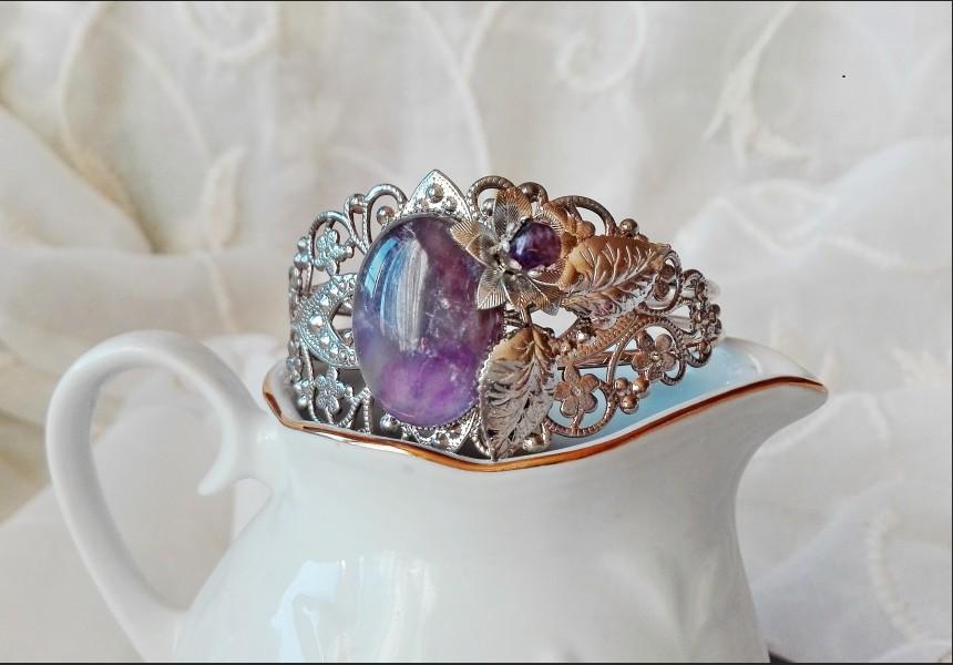Victorian Amethyst Flower Bracelet