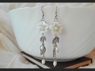 Mother of Pearl Wedding Earrings