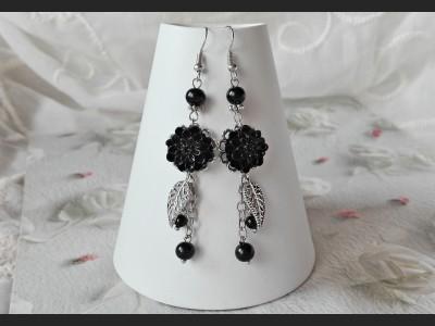 Tourmaline Flower Earrings