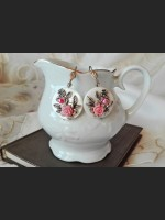 White Shell Pink Earrings