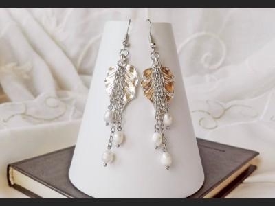 Romantic White Pearl Earrings