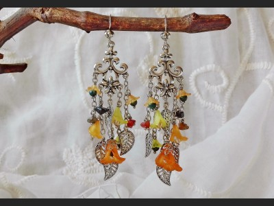 Boho Flower Earrings