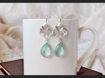 Blue Crystal Bridesmaid Earrings