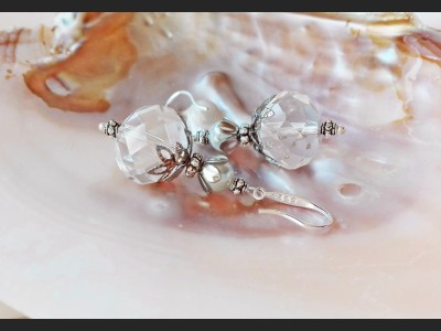 White Crystal Bridesmaid Earrings