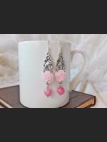 Light Pink Agate Romantic Earrings