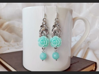 Blue Amazonite Bridesmaid Earrings