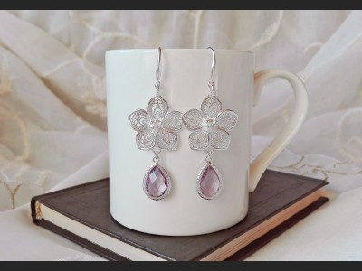 Flower Crystal Bridesmaid Earrings