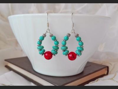 Turquoise Boho Earrings