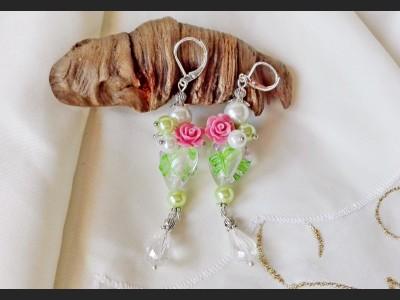 Romantic Heart Pearl Earrings