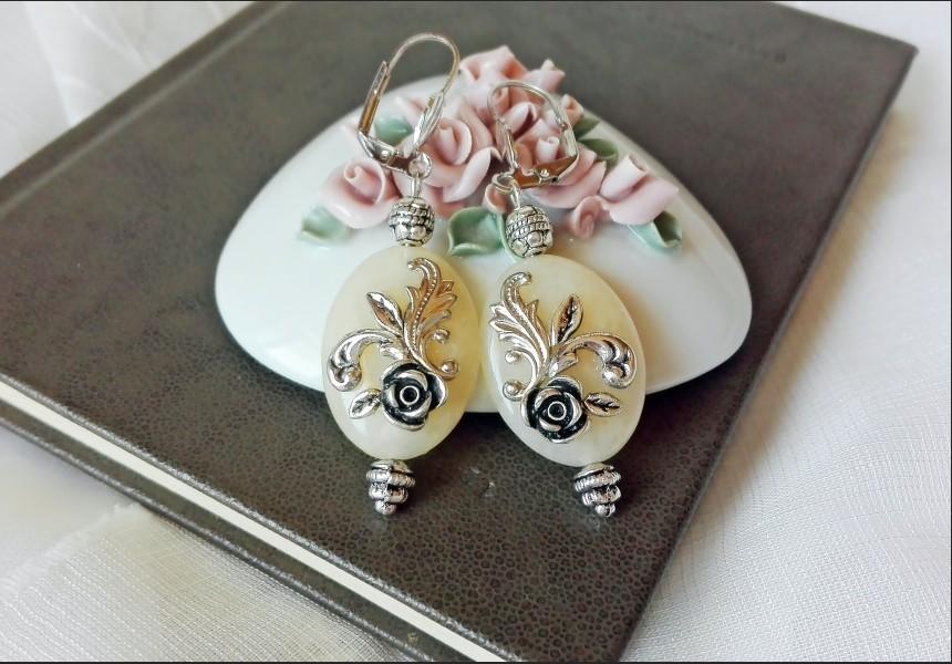Yellow Jade Victorian Earrings