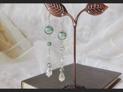 Green Crystal Bridesmaid Earrings