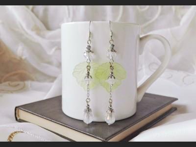 White Spring Flower Earrings