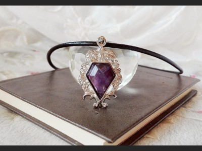 Vintage Style Purple Amethyst Necklace