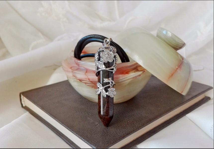 Tiger Eye Art Deco Necklace