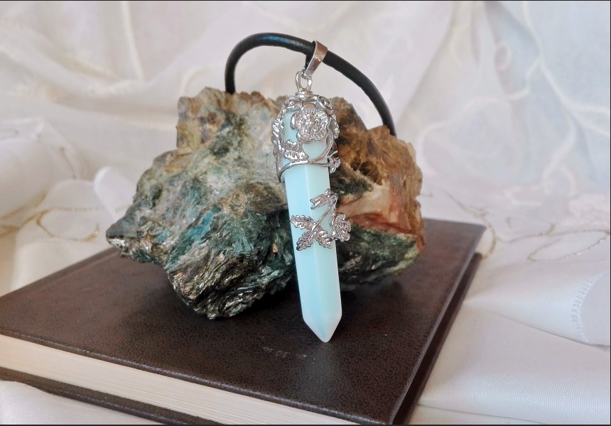 Opalite Crystal Art Deco Style Necklace