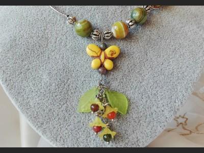 Agate Romantic Rose Necklace