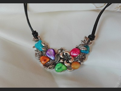 Rainbow Vintage Necklace