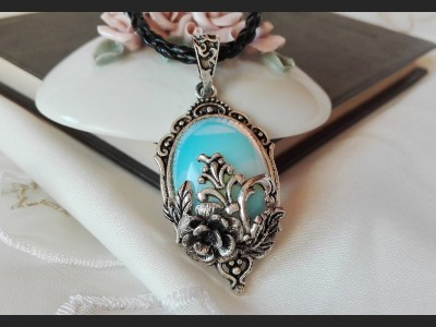 Opalite Crystal Victorian Style Necklace
