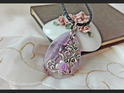 Purple Amethyst Vintage Necklace