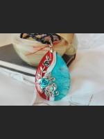 Multicolor Agate Vintage Necklace