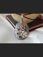 Grey Agate Vintage Necklace
