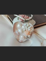 Mother of Pearl Shell Beige Necklace