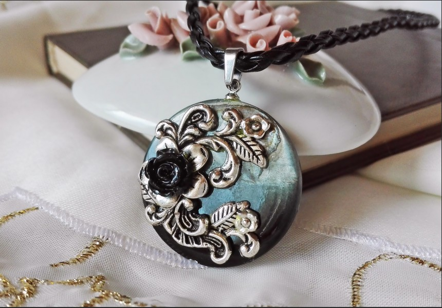 flowers necklace compass black collections enamel kaman victorian gold inspired diamond by jewelry signature designed pendant sofia of mandala language handmade engravable