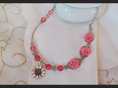 Cherry Quartz Gemstone Necklace